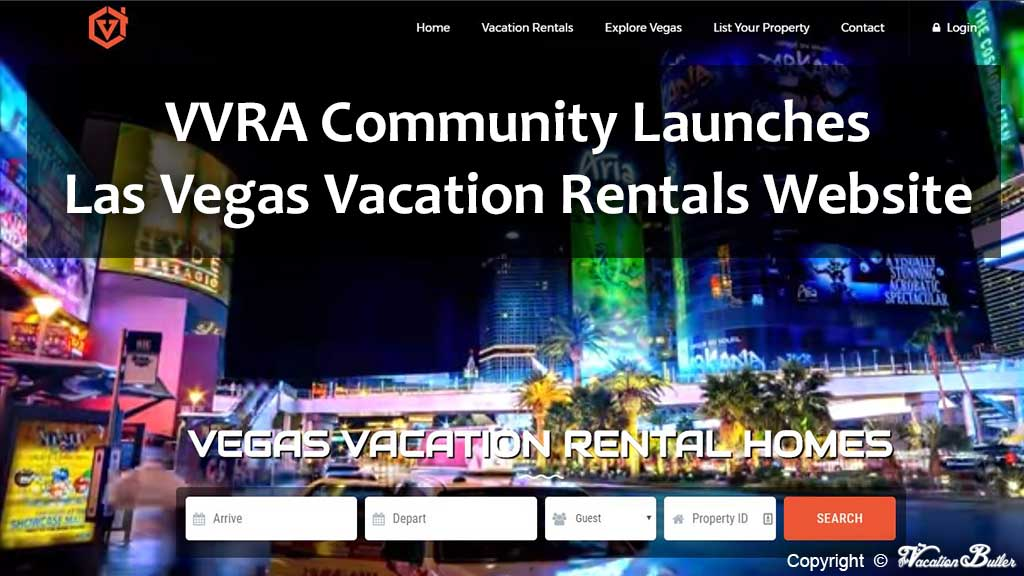 VVRA Las Vegas Vacation Rentals Website