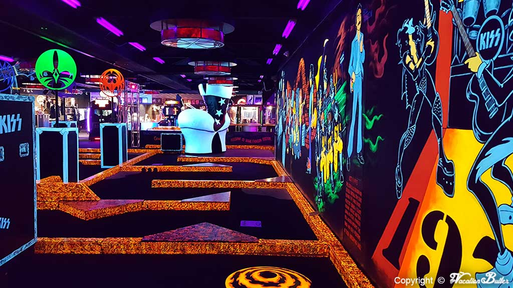 Kiss Mini Golf is great fun for kids and adults
